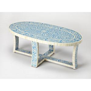 Sabina Blue Bone Inlay Cocktail Table