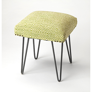 Butler Channahon Green Upholstered Stool