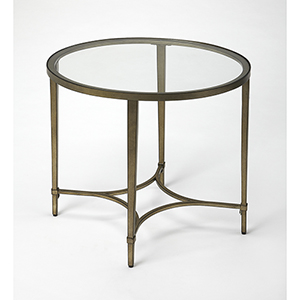 Butler Monica Gold Oval End Table