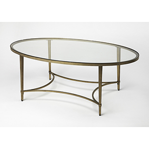 Butler Monica Gold Oval Coffee Table