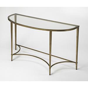 Butler Monica Gold Demilne Console Table