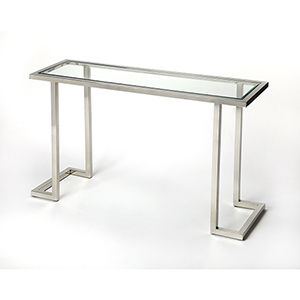 Butler Iliad Stainless Steel Console Table