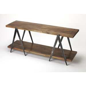 Scissors Iron and Wood Console Table