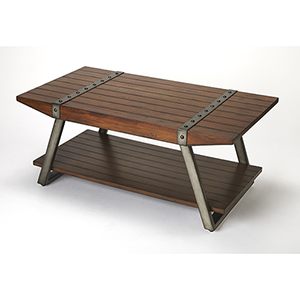 Butler Lamont Iron and Wood Coffee Table