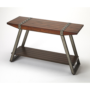 Butler Lamont Iron and Wood Console Table