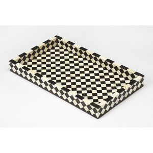 Vermeer Black Bone Inlay Serving Tray