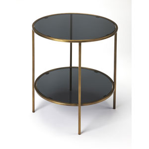Roxanne Iron and Glass End Table