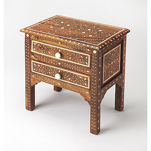 Butler Chevrier Wood and Bone Inlay Accent Chest