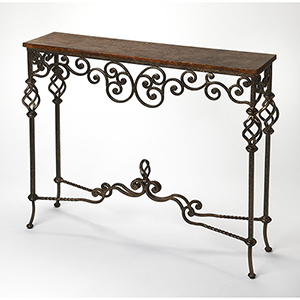 Butler Algiers Wrought Iron Console Table