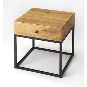 Butler Brixton Iron and Wood End Table
