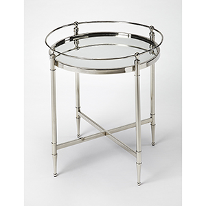 Butler Crosby Metal and Mirror End Table