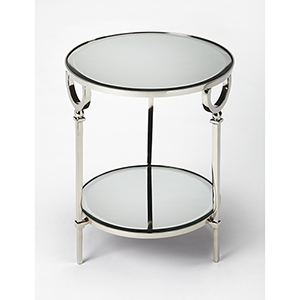 Butler Jolene Metal and Mirror End Table