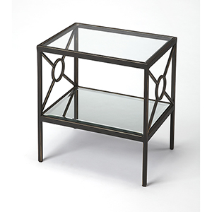 Butler Metropolis Metal and Mirror Side Table