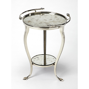 Butler Viola Metal and Mirror End Table