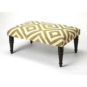 Butler Lucinda Diamond Upholstered Cocktail Ottoman