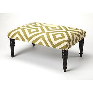Butler Lucinda Diamond Upholstered Cocktail Ottoman