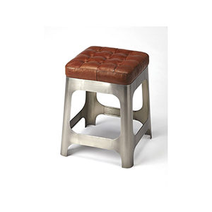 Butler Gerald Iron and Leather Counter Stool