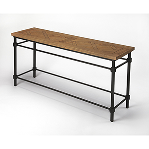Butler Flagstaff Iron and Wood Console Table