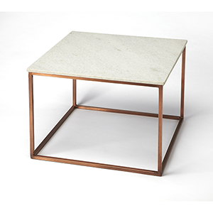 Butler Holland Marble and Metal Coffee Table