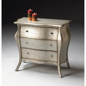 Brushed Pewter Bombe Chest