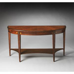 Masterpiece Olive Ash Burl Demilune Console Table