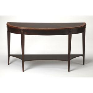 Astor Cherry Nouveau Demilune Console Table
