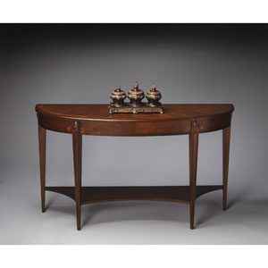 Masterpiece Nutmeg Demilune Console Table