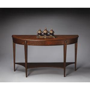 Masterpiece Nutmeg Demilune Console Table