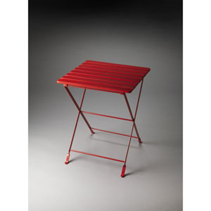 Bailey Red Folding Side Table