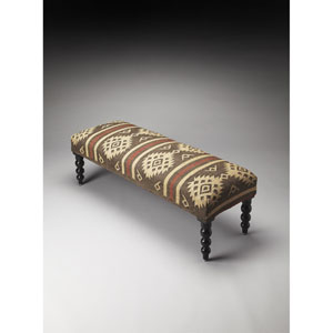 Navajo Jute Upholstered Bench