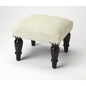 Butler Samina Ivory Upholstered Stool
