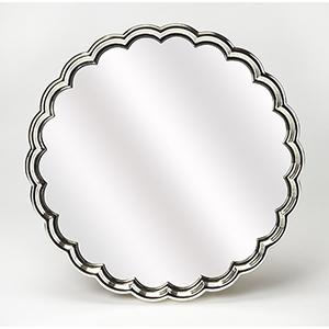 Butler Moira Silver Scalloped Wall Mirror