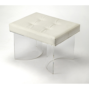 Butler Ellipse Clear Acrylic Vanity Stool