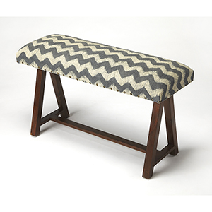Butler Keating Zig Zag Upholstered Bench