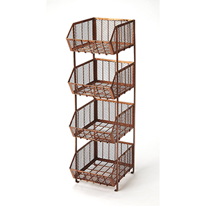 Butler Griffin Copper Storage Rack
