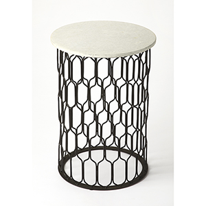 Butler Sela Marble and Metal End Table
