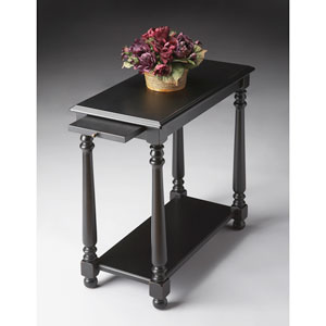Black Licorice Black Chairside Table