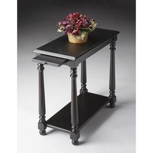 Black Licorice Black Chairside Table