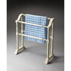 Cottage White Blanket Rack