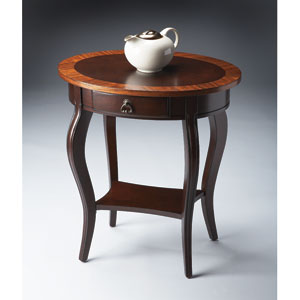 Masterpiece Cherry Nouveau Oval Accent Table
