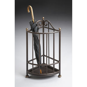 Metalworks Antique Brass Accented Umbrella Stand