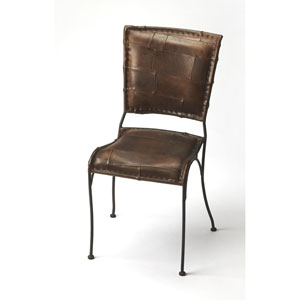Maverick Iron and Leather Side Chair