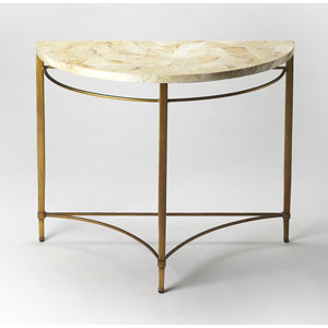 Marlena Cabebe Shell Demilune Console Table