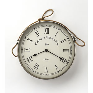 Rockport Nickel Finish Wall Clock