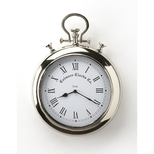 Exeter Nickel Finish Wall Clock