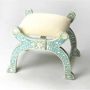 Vivienne Jade Bone Inlay Stool