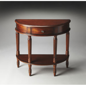 Masterpiece Madrid Brown Demilune Console Table