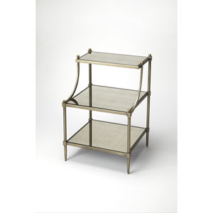 Gold Tiered Side Table