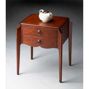 Plantation Cherry Two-Drawer Accent Table
