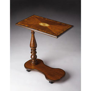 Olive Ash Burl Mobile Tray Table